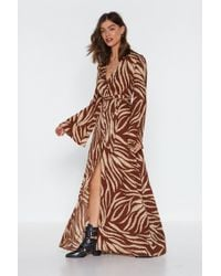 """Nasty Gal - """"without Feather Ado Maxi Dress"""" - Lyst"""