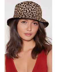 Nasty Gal - Can't Be Tamed Leopard Bucket Hat - Lyst