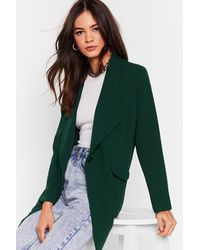 Nasty Gal Oversized Tailored Blazer - Green