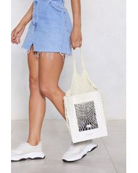 Nasty Gal - Want Tie The Net Tote Bag - Lyst