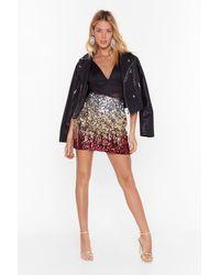 "Nasty Gal ""flame On You Sequin Mini Skirt"" - Metallic"