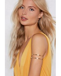 Nasty Gal - Simple Double Band Upper Arm Cuff - Lyst