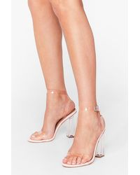 Nasty Gal Let's Be Clear Heeled Sandals - Pink