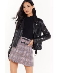 Nasty Gal The Best You Ever Had Tartan Mini Skirt - Gray
