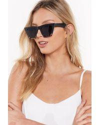 Nasty Gal Easy On The Eye Square Zebra Sunglasses - Black