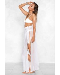 "Nasty Gal ""how The Years Tie By Sarong Skirt"" - White"