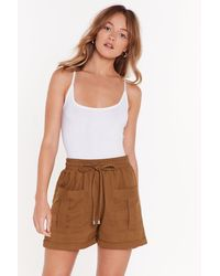 """Nasty Gal """"the Ties The Limit High-waisted Shorts"""" - Multicolour"""