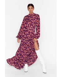 "Nasty Gal ""grow 'em What You've Got Floral Maxi Dress"" - Black"