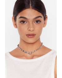 Nasty Gal Chain-ge The Game Chain Necklace - Metallic