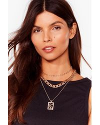 Nasty Gal Hiss Is Me Layered Snake Necklace - Metallic
