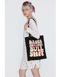 Nasty Gal | Babes Against Bullshit Tote Bag | Lyst