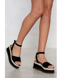 024c08ca36ba Nasty Gal - What Goes Up Platform Sandal - Lyst