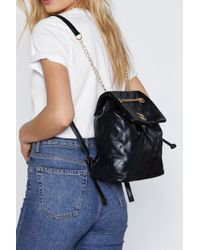 Nasty Gal - Want Quilt Trip Chain Backpack - Lyst