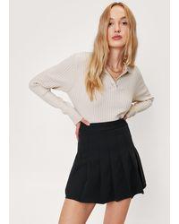 Nasty Gal High Waisted Pleated Tennis Skirt - Black