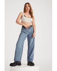 Nasty Gal Dru Wide-leg Jeans - Blue