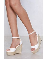"""Nasty Gal """"sunny Afternoon Espadrille Wedge Sandal"""" - White"""