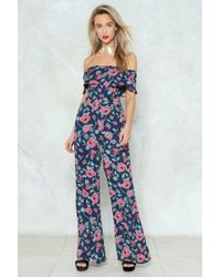 Nasty Gal - Grow After Your Dreams Floral Jumpsuit - Lyst