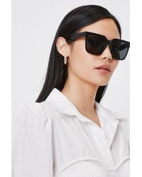 Nasty Gal Oversized Square Tinted Sunglasses - Noir