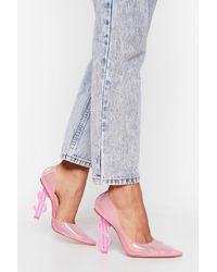 "Nasty Gal ""money Money Money Transparent Stiletto Heels"" - Pink"