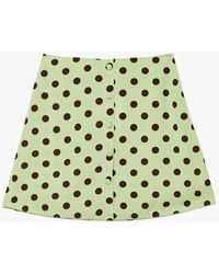 Nasty Gal Polka Dot Mini Skirt - Green