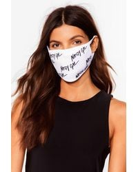 Nasty Gal Nothing But A Fashion Face Mask - White