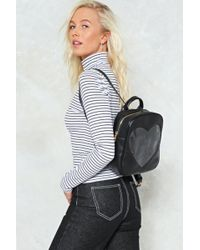 Nasty Gal - Want Un-break My Heart Vegan Leather Backpack - Lyst