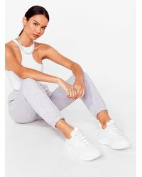 Nasty Gal - Front Runner Chunky Lace-up Trainers - Lyst