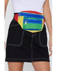 Nasty Gal - Want In Your Primary Colorblock Fanny Pack - Lyst