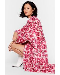 """Nasty Gal """"paisley No Mind Floral Maxi Dress """" - White"""
