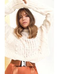 """Nasty Gal """"pom Pom With The Wind Cable Knit Sweater"""" - Multicolor"""