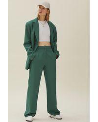 Nasty Gal Pantalon de costume large à poches et détails pincés - Vert
