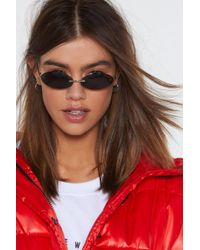Nasty Gal - So Oval You Small Frameless Shades - Lyst