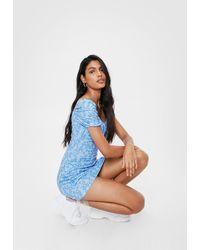 Nasty Gal - Ditsy Floral Bust Mini Dress - Lyst