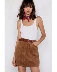 Nasty Gal - Cord Of You Mini Skirt - Lyst