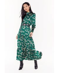 Nasty Gal Nothing Bud A Goodtime Floral Maxi Dress - Green