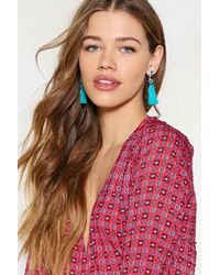 Nasty Gal | Queen Of The Tassel Earrings | Lyst