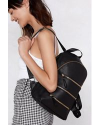 Nasty Gal - Want Three Times The Charm Zip Backpack - Lyst