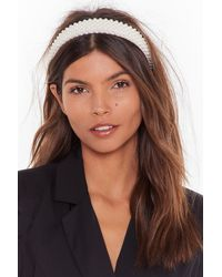 Nasty Gal Number One Pearl-inspired Headband - White