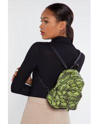 "Nasty Gal ""snake Structured Mini Backpack"" - Green"