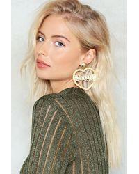Nasty Gal - Baby Girl Acryclic Hoop Earrings Baby Girl Acryclic Hoop Earrings - Lyst