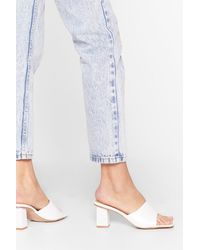"Nasty Gal ""you've Got Sole Faux Leather Heeled Mules"" - White"