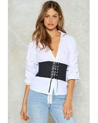 Nasty Gal - Lace Up Stretch Corset Belt Lace Up Stretch Corset Belt - Lyst