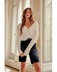 Nasty Gal Do What Knit Takes Chunky Knit Cardigan - Multicolour