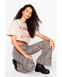 Nasty Gal Petite Leopard Print Flare - Brown