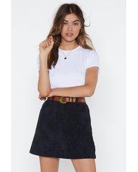 "Nasty Gal ""all A-cord Mini Skirt"" - Black"