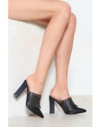 Nasty Gal - Put On A Front Fringe Mule - Lyst