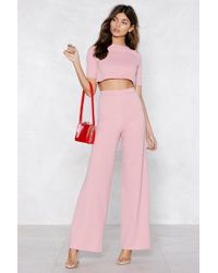 Nasty Gal - Settle The Score Crop Top And Pants Set - Lyst