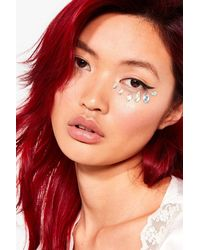 Nasty Gal Shrine That's Shine By Us Face Jewels - Metallic