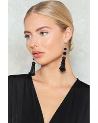 Nasty Gal | Beaded Tassel Earring Beaded Tassel Earring | Lyst