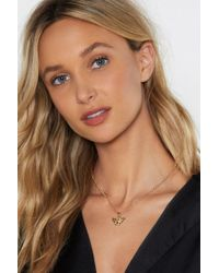 Nasty Gal - There Must Be An Angel Necklace - Lyst